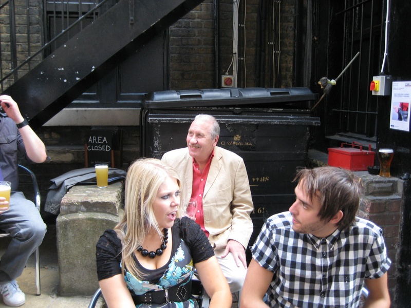 Beth Willis, Harry Cooper and Doug Gillen after Sitcom Sunday @ FUSE